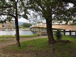 東岸より瀬田の唐橋