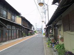 太田宿東の町並み