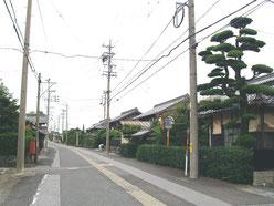 旧道の町並み
