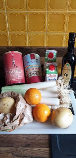Bild: Rezept  Soupe poireaux-orange - Lauchsuppe mit Orange