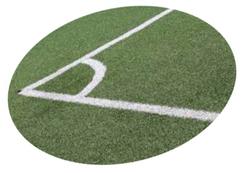 krijtlijnen voetbalveld