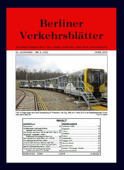 Berliner Verkehrsblätter. Titel April 2018.