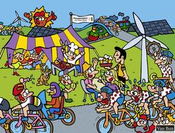 Van Bun Communicatie & Vormgeving - Internetgazet Lommel - Illustraties - Tekeningen - Grafisch ontwerp - Publiciteit - Reclame - Ploegentijdrit voor goede doelen