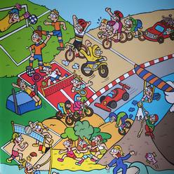 Dirk Van Bun Communicatie & Vormgeving - Illustraties - originele tekening - behangpapier - Lommel