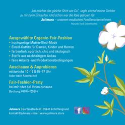 Rückseite Flyer Julimara