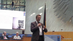 """Prof. Gerhard de Haan während der Abschlusskonferenz der UN-Dekade """"Bildung für nachhaltige Entwicklung"""", September 2014"""