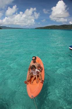Kayak au motu Ceran