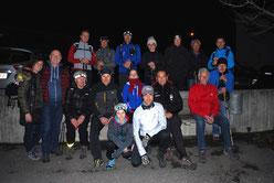 Gruppenbild Nachtwanderung 2016