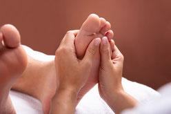 Fußreflexzonenmassage-Entspannung-Reflexzonen
