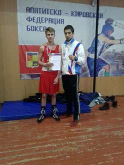 Роман Супрун с тренером Сергеем Куликовым