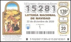 """LOTERÍA DE NAVIDAD 2020 - """"A.C.H."""" ASOCIACIÓN DE CITRICULTORES DE HORNACHUELOS. - Haz """"clic"""" en la imagen para ampliar."""