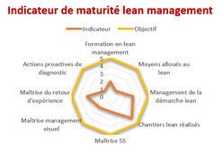 Exemple d'indicateur de maturité lean issu d'un diagnostic lean