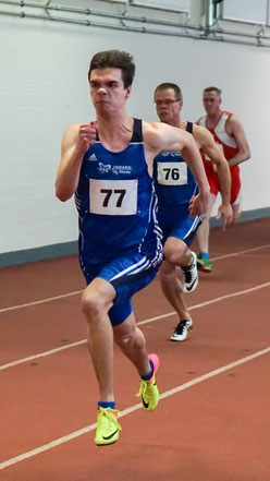 LAZ-Sprinter Simon Heweling lief die 60m in tollen 7,03 sec. (Foto: Roman Buhl)