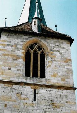 Der Turm der Stadtkirche aus der Sicht vom Haus Ring 10. Foto: Heinz Strobel