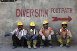 Ouvriers BTP Delhi, Inde - Philippe Lissac
