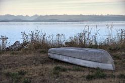 Landschaft mit Boot in British Columbia Kanada