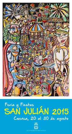 Feria y Fiestas de San Julián 2015 en Cuenca Cartel y Programa