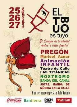 Fiestas del Tubo 2015 en Zaragoza Cartel y Programa