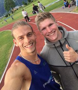 Matthias Steinmann (li) + Finley Gaio (re)