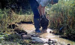 Offenhalten der Wasserflächen. Foto: M. Eimers