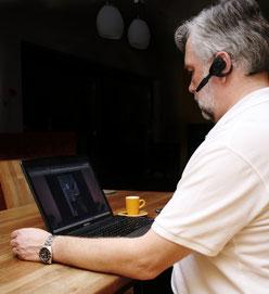 Fotocoach in einer Onlinesitzung
