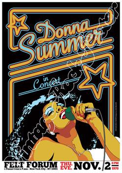 donna summer, donna summer poster, donna summer concert