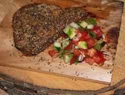 Thon en croûte d'épices et Salsa du potager * Domaine O Naturel