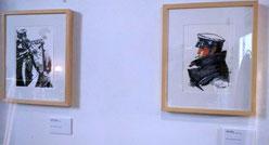 Dos de las creaciones del personaje hechas por artistas andaluces./ © Ana Rodríguez