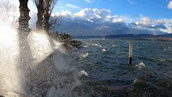 Zürichsee bei Sturm