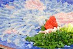 Sashimi von Fugu (Kugelfisch)