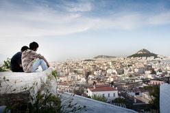 Die Stadt Athen - von oben sieht sie friedlich aus