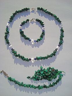 Umgestaltung einer Malachit Halskette