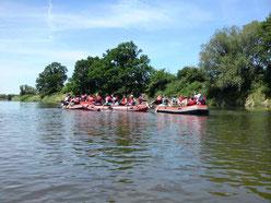 Marineking - Schlauchbootverleih, Tour bei Trebsen