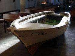 Das Flüchtlingsboot der Erzdiözese Köln ist vom 8.-14. September in die Basilika St. Margareta zu sehen. (Foto: Hohengarten/Erzbistum Köln)