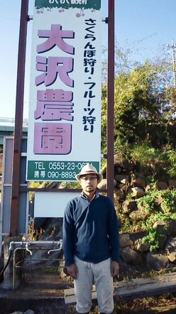 さくらんぼ狩りフルーツ狩り大沢農園大澤澄人