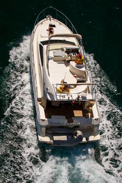 Motoryacht Paradise 2 von oben