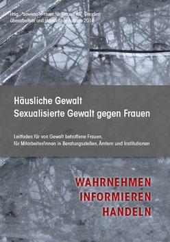Informationsbroschüre häusliche sexualisierte Gewalt gegen Frauen - Wahrnehmen, Informieren, Handeln