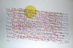 Sergio Dangelo litografia Forrest Specular Noiret