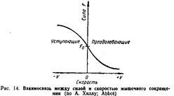 рис.03 Зависимость сила-скорость по А.Хиллу