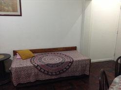A sala do apartamento