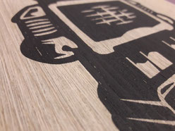 Holz bedruckt Siebdruck