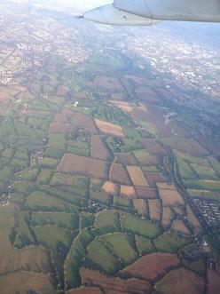 空から見たダブリン郊外。
