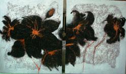 Moderne Bloemen Tweeluik