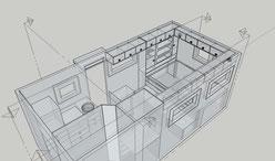 Vorläufiges 3D Modell der Inneneinrichtung
