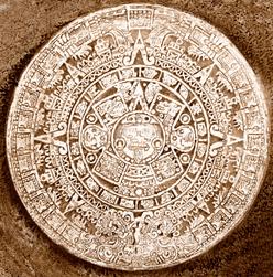 Maya Kalender, weiß, braun