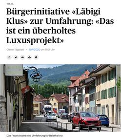 Solothurner Zeitung vom 10. September 2020