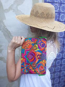 Boho Tasche, Schultertasche, Abendtasche, Blumenmuster, bestickte mexikanische Tasche, Clutch, mexikanische Mode, Mexikanische Textilien, Schultertasche, Partytasche, Mexikanisches Design, Boho Fashion, Hippie style, ethno Fashion, Folklor Tasche