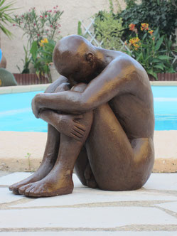 l'homme assis sculpture homme nu-nouveausculpteur.2013