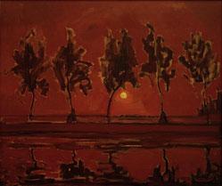 『月の出と木』(1908年)
