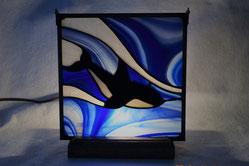 Orca Art Glass Lamp